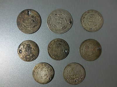 LOT of 8pcs LARGE SILVER OTTOMAN TURKISH TURKEY ISLAMIC COINS VERY RARE 58.9gram