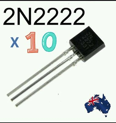 Aus stock - 10Pcs 2N2222A 2N2222 NPN Switching Transistor TO-92 0.6A 30V