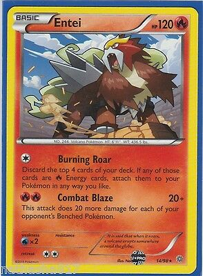 Entei 14//98 XY Ancient Origins REVERSE HOLO PERFECT MINT Pokemon