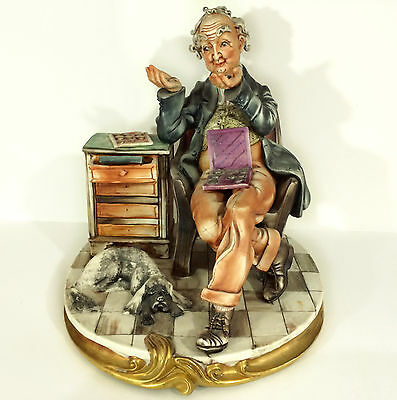 Capodimonte 'The Coin Collector' by Milio - Large 3.8Kg Figure/Figurine