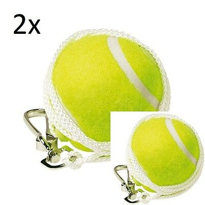 2x TOTEM TENNIS BALL REPLACEMENT BACKYARD TENNIS TRAINER SPARE BALL HOOK STRING