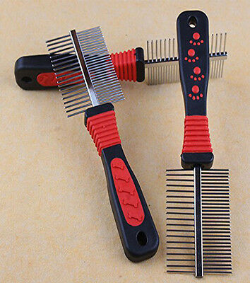 Double Sided Metal Pet Cat Dog Brush Comb Professional Grooming Hair Fur Pins
