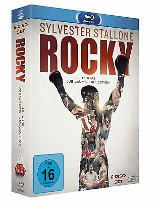 Rocky 1-6 The Complete Saga Teil 1 2 3 4 5 6 Blu-Ray Deutsch