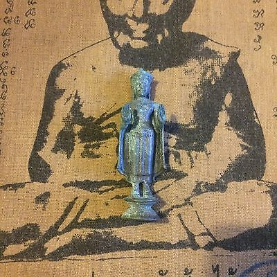 Antique Bronze Standing Buddha Statue With Open Hands From Lao's