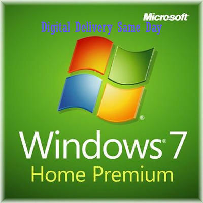Scrap PC Windows 7 Genuine Home 32 / 64bit Full Version License  Key