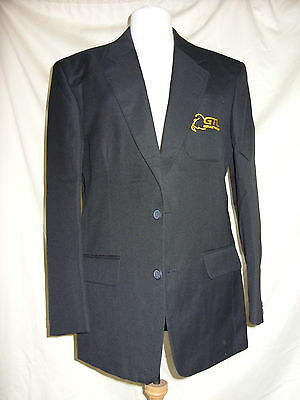 "Mens Bus jacket - 40"" chest - Glenvale Transport-Black, heavy woven - 0063"