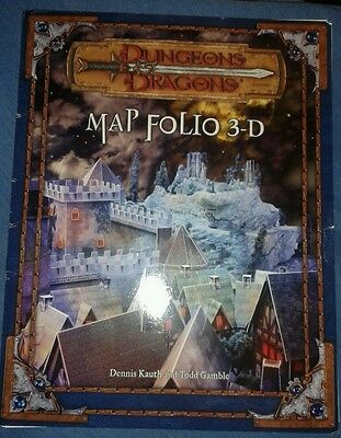 Dungeons and Dragons Map Folio 3D. COMPLETE. GC.