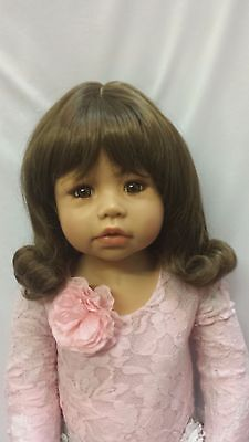 "NWT Monique Libby Brown Doll Wig 17-18"" fits Masterpiece Doll(WIG ONLY)"