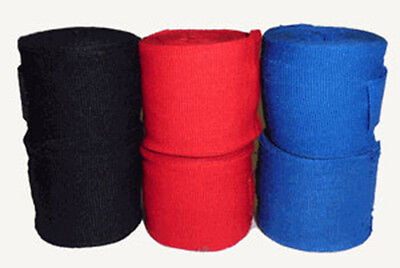 Boxing MMA HANDWRAPS ALL COLORS - Mexican Style Adult PAIR, Free Shipping