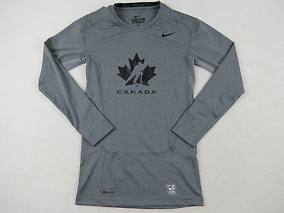 New Nike Player Issued Team Canada Mens Hockey Pro Stock LS Compression Shirt XL