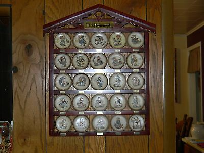 """M.j. Hummel 3 1/4"""" Mini Plate Collection In Cabinet Made In Germany  From Chanin"""