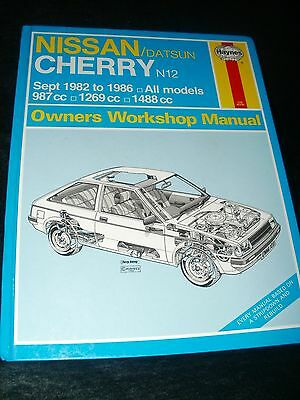 Nissan / Datsun Cherry N12 Workshop Manual 1982 To 1986