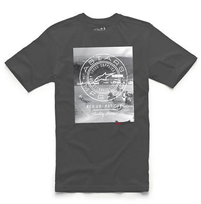 Alpinestars T-Shirt AMC Goods Tee Grau Gr. M Grey Motocross MX SXF SX Cross MTB