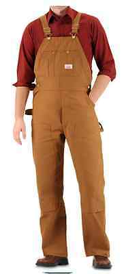 Round House Made in USA Heavy Duty Brown Duck Bib Overalls 38x32