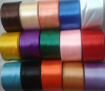"""Satin Ribbon 50mm 2"""" inch many Colors Buy 4 Get and Get 1 Free any colour"""
