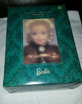 Brand New 1996 Holiday Caroler Barbie Doll - Holiday Porcelain Barbie Collection