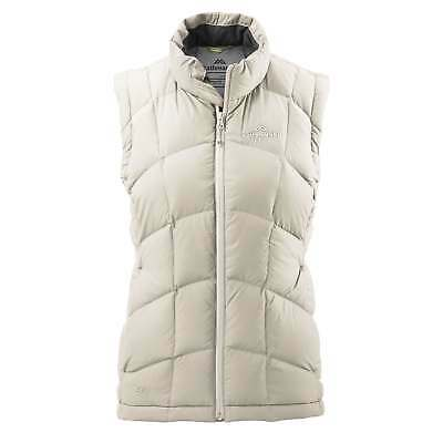 Kathmandu Womens Duck Down Wind & Water Resistant High Neck Warm Vest v4 Cream
