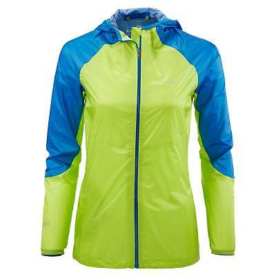 Kathmandu Zeolite Womens Light Wind Water Proof Trail Running Jacket Green Blue