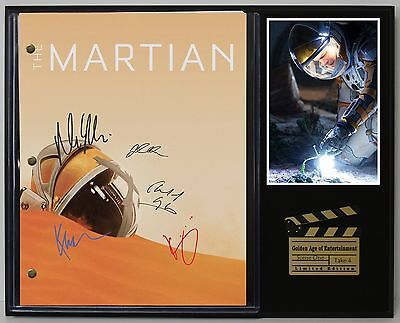 The Martian - Reprinted Autograph Movie Script Display - USA Ships Free