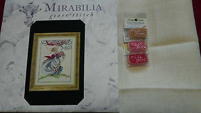 New Ashley's Roses Mirabilia MD40 oop chart with Linen and beads.