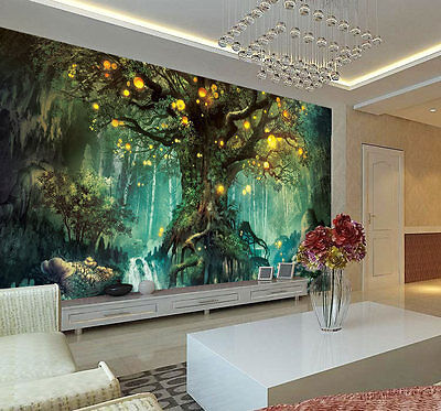 Enchanted Fantastic Tree Full Wall Mural Photo Wallpaper Print Home 3D Decal