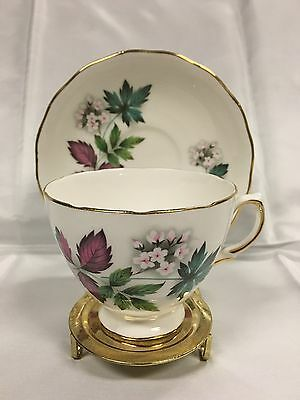 Vintage Royal Vale Teacup and Saucer English Bone China Pattern 7974