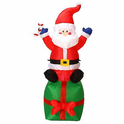 "Danson Decor X94271 INFLATABLE SANTA CLAUS WITH GIFT BAG 47"" CHRISTMAS XMAS"