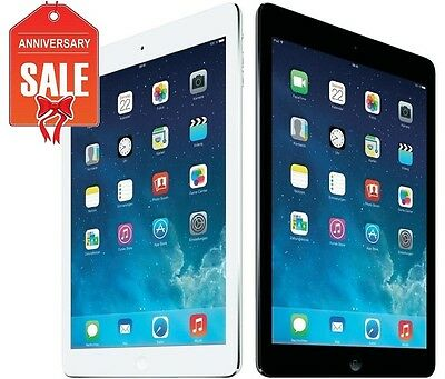 Apple iPad Air 1st 64GB WiFi 9.7in Retina Space Gray White Silver (R-D)