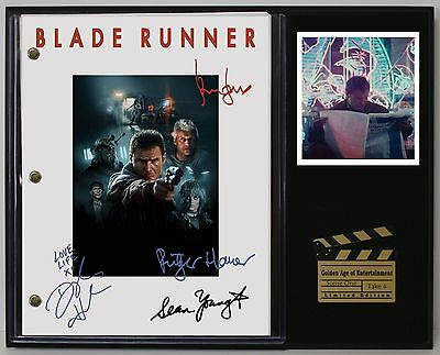 Blade Runner - Reprinted Autograph Movie Script Display - USA Ships Free