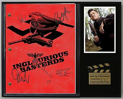 Inglorious Bastards - Reprinted Autograph Movie Script Display - USA Ships Free