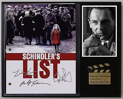 Schindler's List - Reprinted Autograph Movie Script Display - USA Ships Free