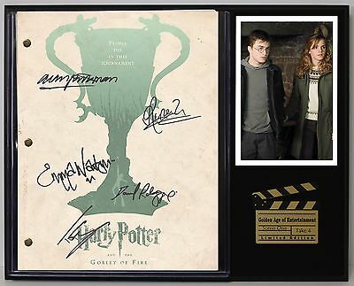 Harry Potter & The Goblet of Fire - Reprinted Autograph Movie Script Display