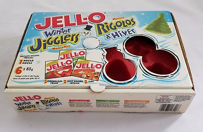 Jello Molds Winter Jigglers Christmas Kraft Set 2 Red Vintage Packaging