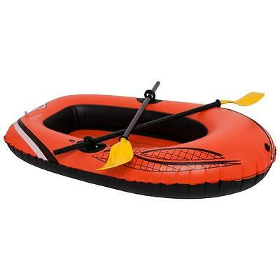 Driclad Inflatable Red Raft Set Boat With Oars & Tow Ring