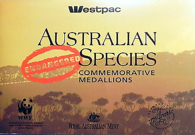 1992 ENDANGERED SPECIES WESTPAC Collection of Medals in Booklet