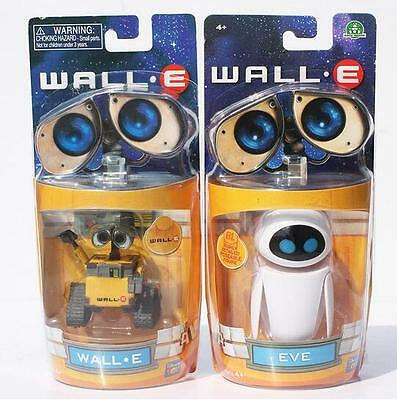 2 Pcs Cartoon Movie Wall E Toy Walle Eve Figure Toys Wall-E Robot Figures Dolls