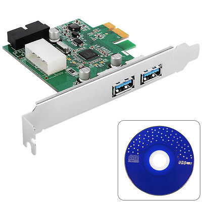 3 Port PCI-E PCI Express USB3.0 HUB PC Card Adapter 19pin for WIN XP 7 8 AC319