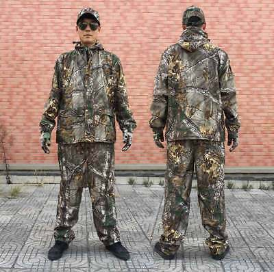 Camouflage Hunting Clothes Autumn Winter Tactical Jacket Pants Hat Gloves Suit