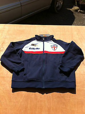 Boys England Rugby League ISC Synergy jacket training track top 8 yrs hoodie