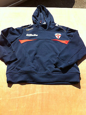 Boys England Rugby League ISC Game day hoodie training track top 12 14 yrs hoody