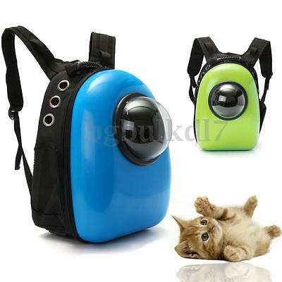 Blue Green Dog Cat Pet Astronaut Capsule Backpack Breathable Carrier Travel Bag