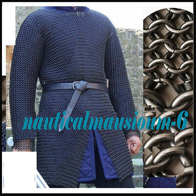 Butted Chainmail Shirt MEDIUM SIZE   F Sleeve Chain Mail Armor  HUBERK  AZF