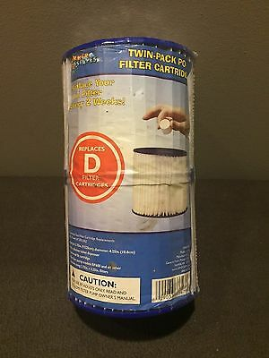 "2 SPLASH TIME for Summer Escapes Waves D Pool Filter Cartridge 3.75"" 4.12"" NEW"