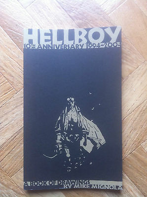 Hellboy 10 Th Anniversary A Book Of Drawings Mignola Sketchbook Near Mint (W2)