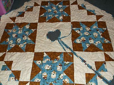 Handmade Snowman Christmas Tree Skirt