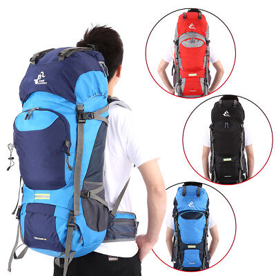 50L Waterproof Nylon Bag Outdoor Travel Backpack Hike Camping Trekking Rucksack