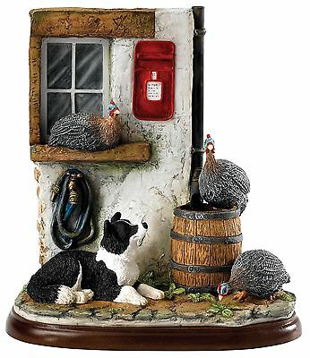 Border Fine Arts James Herriot Sur Guard Border Collie Figurine 17.5cm A27559