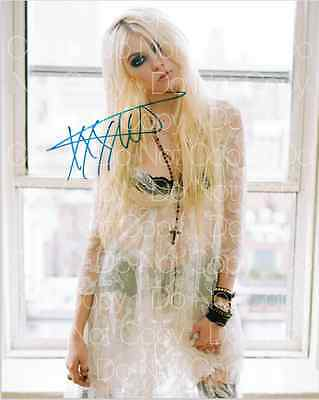 Taylor Momsen signed The Pretty Reckless 8X10 photo picture poster autograph RP2