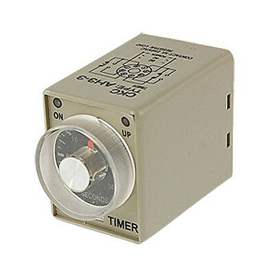 AC 110V Power on Delay Timer Time Relay 0~30 Second AH3-3 DPDT 8 Pin SP