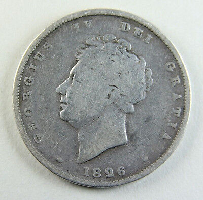 1826 George IV Silver Shilling; Old album collection!